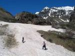 Aufstieg zum Tviberi-Gletscher