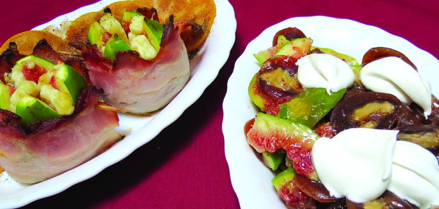 Feigen im Speckmantel mit Guda-Käse und Tschurtschela-Feigen-Salat