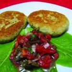 Roquefort Mtschwadi mit Bruschetta-Salat